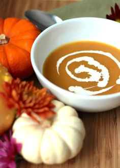 How to make the best pumpkin soup you've ever tasted! I can't wait to make this one. ...