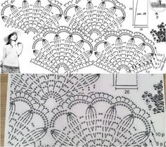 Colorful Crochet Shawl Diagrams Video 1