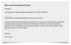Petition urges the City of Phoenix to add bike lanes to Roosevelt St. #dtphx