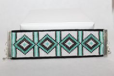 Custom Western Diamond Loom Beaded Bracelet
