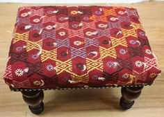 Beautiful Traditional Antique Handmade Kilim Footstool by Rugstore, £150.00