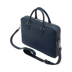 Mulberry - Theo Day Document Case in Regal Blue Small Classic Grain