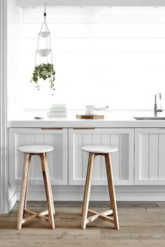 Timber and Marble Stool by Cranmore Home on The Life Creative Blog