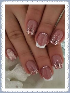 119 holiday nail art designs too pretty to pass up page 40 Bright Nail Designs, Winter Nail Designs, Simple Nail Designs, Nail Art Designs, Nails Design, Ongles Gel French, French Nails, Christmas Gel Nails, Holiday Nails