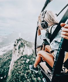 #adventure #travel #high #helicopter #girl #mountain #forest