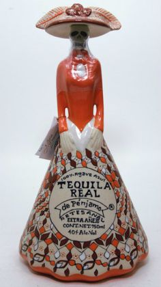 Tequila Real de Penjamo Extra Anejo CATRINA - www.oldtowntequila.com Tequila Bottles, Alcohol Bottles, Liquor Bottles, Liquor Drinks, Wine And Liquor, Liquor Store, Tequila Festival, Alcohol Aesthetic, Mexican Beer
