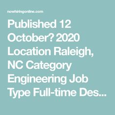 Published 12 October، 2020 Location Raleigh, NC Category Engineering  Job Type Full-time  Description ESE Consultants, aToll Brotherscompany, seeks aCivil Engineer or Civil Designerfor our Raleigh, North Carolina office. Consider a new opportunity that offers extensive exposure to design and approval processes in residential land development projects! Working with an internal team of surveyors, ... Interpersonal Communication, Communication Skills, Finding The Right Job, Oracle Database, Security Training, Engineering Jobs, 12 October, Progress Report, New Opportunities