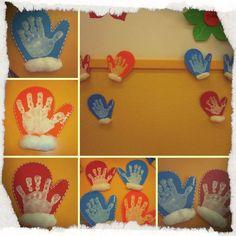 Make winter gloves - Make winter gloves - Winter Crafts For Kids, Winter Kids, Winter Art, Winter Theme, Winter Christmas, Art For Kids, Preschool Crafts, Fun Crafts, Winter Project