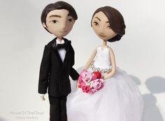 Hochzeitstorte Topper rustikale Braut und von HouseOnTheCloud