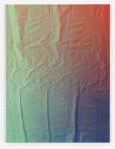 Tauba Auerbach : Tetrachromat (the canvas is now flat, it WAS crumpled, and paint sprayed onto it).