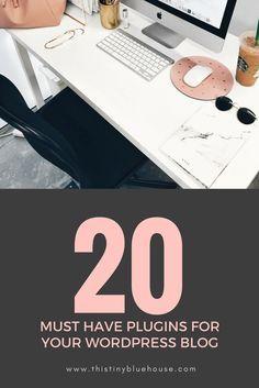 20 Absolute Must Have Plugins for your wordpress blog #blogging #plugins #wordpress