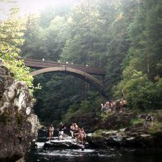 Footbridge at Moutlon Falls, Battle Ground, Washington