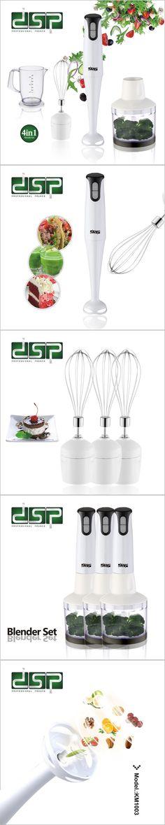 DSP KM1003 Household Electric Stick Blender Hand Blender Egg Whisk Mixer Juicer Meat Grinder Food Processor