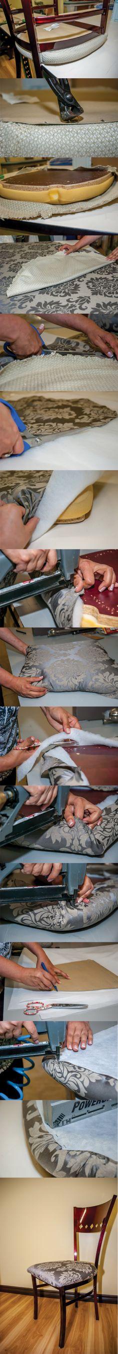 Vous voulez redonner vie à vos anciens meuble? Quoi de plus simple que de les recouvrir avec un nouveau tissu! Venez découvrir comment faire ici:  http://clubtissus.com/articles-blog/articles-decoration/projet-de-recouvrement-dune-chaise