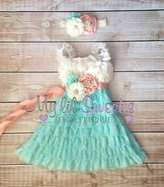 New original design 3 piece petti lace dress set. Gorgeous lace dress, sash, and headband.  This adorable dress has super soft lace and is