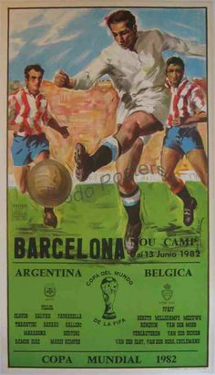 Poster for Argentina v Belgium in the 1982 World Cup Finals.