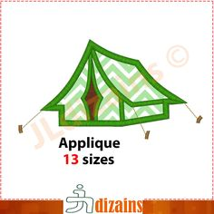 Tent Applique Design  Machine Embroidery Design