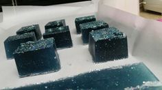 "Our ""Space"" soap created by my daughter,  so cool!"