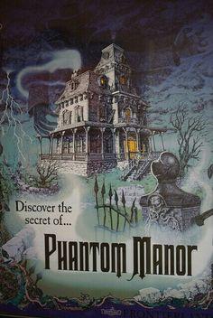 Attraction poster Phantom Manor - Disneyland Paris