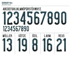 Football teams shirt and kits fan: Font fix Germany World Cup 2014
