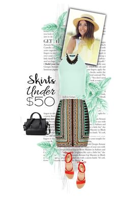 """""""Untitled #709"""" by fernshadowstudio-com ❤ liked on Polyvore featuring New Look, River Island, Vince Camuto, under50 and skirtunder50"""