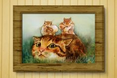 Ginger Cat and the Chipmunks by Theresa Harris on Etsy