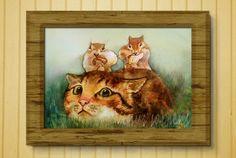 8x10in А5 А4 giclee stampa acquerello gatto dello di VenusSapiens