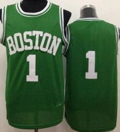 ec00486f4 Boston Celtics  1 Walter Brown Green Throwback Stitched NBA Jersey Red  Auerbach