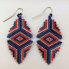 Hey, I found this really awesome Etsy listing at https://www.etsy.com/listing/192390709/beaded-marie-earring-in-gold-navy-and