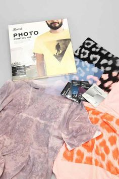 A little obsessed with Lumi's new photo-to-tshirt printing kits. Old school photography FTW!