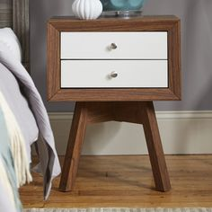 Found it at AllModern - Baxton Studio 2 Drawer Nightstand