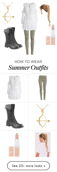 """summer outfit 38"" by estrellaojeda456 on Polyvore featuring Chicwish, Rimmel and Bow & Arrow"