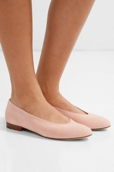 Ballerina suede flats- OBSESSED!!