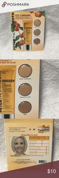 Peter Thomas Roth CC Cream Sample New in mint condition. Factory sealed. Smoke free home.  Don't like the price? Make an offer! Peter Thomas Roth Makeup Foundation