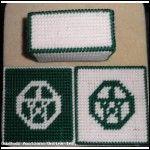 Green Pentagram Coasters