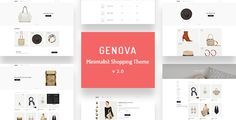 Genova - Minimalist AJAX WooCommerce WordPress Theme About Theme Genova – is a minimalist WooCommerce theme. That will give you and your customers a smooth shopping experience which can be used for various kinds of stores such as boutiques, bookstore. Web Themes, Cool Themes, Website Themes, Wordpress Template, Top Wordpress Themes, Wordpress Plugins, Best Website Templates, Shops, Creative