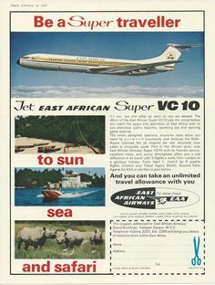 East African Airways Ad 1967