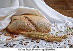 Stock Photo - Nonyeast homemade bread - stock image, images, royalty free photo, stock photos, stock photograph, stock photographs, picture, pictures, graphic, graphics