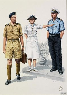 Pacific Far East Royal Navy WW2 Lieutenant Commander Pacific 1945 WRNS... (Art.IWM ART 17108 10)