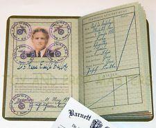 Rene Belloq 1936 German Passport Prop Indiana Jones Raiders of the Lost Ark