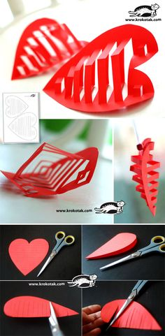 3D paper heart