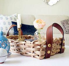 DIY cesta con papel de embalar reciclado