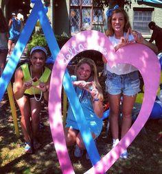 Delta Delta Delta at University of Arkansas #DeltaDeltaDelta #TriDelta #BidDay #letters #sorority #Arkansas
