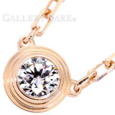 カルティエ ネックレス ディアマン レジェ 1Pダイヤ ダイヤモンド 0.09ct K18PGピンクゴールド B7215700 Cartier ジュエリー ペンダント ダイアモンド