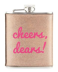Neiman Marcus Boxed Faux-Leather Flask - What an adorable way to take your cocktail with you! Currently on sale