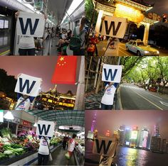 Flying the W around the world 2016