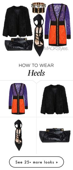 """Heels Have Eyes."" by jevonmack on Polyvore featuring Balmain, LE3NO, Barbara Bui, Dsquared2 and Lanvin"