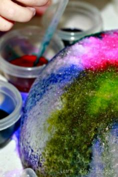 Gorgeous watercolor ice art for kids