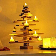 Tabletop Timber Christmas Tree by redzebradesigns on Etsy, $180.00