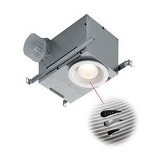 Broan 1 5 Sone 70 Cfm Polymeric White Bathroom Fan With Light Energy S